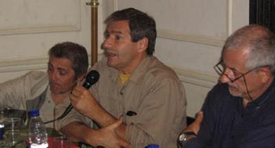 Carlos Fanjul, Eduardo Anguita y Rubén Furman