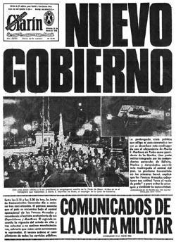 Clarín del 24 de marzo de 1976