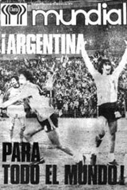 Tapa Clarín sobre el campeonato de 1978