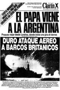 Tapa Clarín, sobre el Papa y la guerra